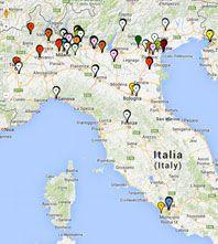 Mappa Interattiva dei corsi in aula in tutta Italia